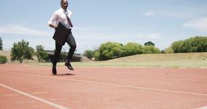 Hombre de negocios Running With Briefcase metrajes