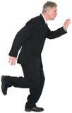 Hombre de negocios Running Isolated, traje, lazo imagenes de archivo