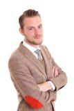Hombre de negocios satisfecho Fotografía de archivo