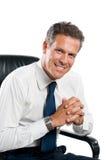 Hombre de negocios satisfecho Imagen de archivo libre de regalías