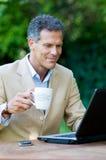 Hombre de negocios satisfecho Fotos de archivo libres de regalías