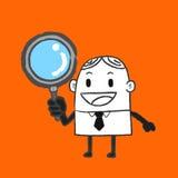 Hombre de negocios Searching Imagen de archivo libre de regalías