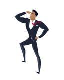 Hombre de negocios Searching para las oportunidades prometedoras Fotografía de archivo libre de regalías