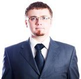 Hombre de negocios serio terminante Imágenes de archivo libres de regalías