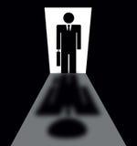 Hombre de negocios Silhouette Imagen de archivo