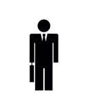 Hombre de negocios Silhouette Fotografía de archivo