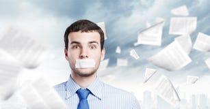 Hombre de negocios sin habla Fotos de archivo libres de regalías