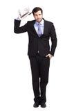 Hombre de negocios sin idea foto de archivo