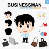 Hombre de negocios: Sistema del diseño de carácter Imágenes de archivo libres de regalías