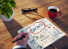 Hombre de negocios Sketching About Growth Foto de archivo libre de regalías