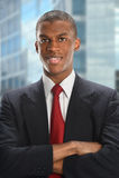 Hombre de negocios Smiling de Amerian del africano Foto de archivo