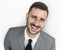 Hombre de negocios Smiling Happiness Portrait Imágenes de archivo libres de regalías