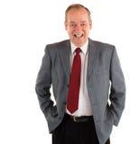 Hombre de negocios sonriente Fotografía de archivo libre de regalías
