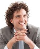 Hombre de negocios sonriente Imagenes de archivo