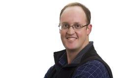 Hombre de negocios sonriente con los vidrios Fotografía de archivo libre de regalías