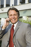 Hombre de negocios sonriente feliz. Fotos de archivo