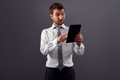 Hombre de negocios sorprendente Fotos de archivo libres de regalías