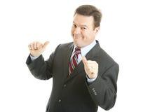 Hombre de negocios - Sr. Bigshot Imagen de archivo libre de regalías