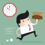 Hombre de negocios tarde para el trabajo Imagen de archivo libre de regalías