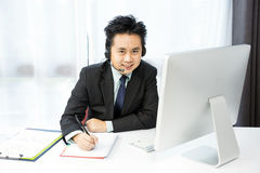 Hombre de negocios Tele Conference Foto de archivo libre de regalías