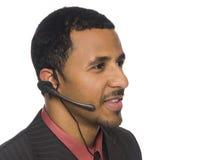 Hombre de negocios - telefonista Imagen de archivo