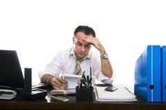 Hombre de negocios tensionado y frustrado Foto de archivo libre de regalías