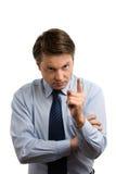 Hombre de negocios terminante Imagen de archivo