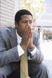 Hombre de negocios Thinking Fotos de archivo libres de regalías