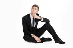 Hombre de negocios Thinking Fotografía de archivo