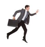Hombre de negocios a toda prisa Fotos de archivo libres de regalías