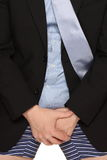 Hombre de negocios Tousers abajo Imágenes de archivo libres de regalías