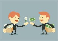 Hombre de negocios Trading ilustración del vector