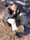 Hombre de negocios trastornado Fotografía de archivo