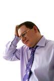 Hombre de negocios triste Foto de archivo libre de regalías