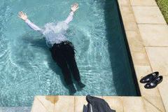 Hombre de negocios Underwater Foto de archivo libre de regalías