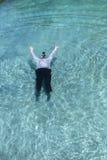 Hombre de negocios Underwater Fotografía de archivo