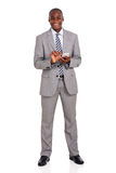 Hombre de negocios usando el teléfono celular Foto de archivo