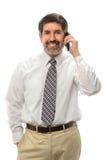 Hombre de negocios usando el teléfono celular fotos de archivo
