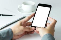 Hombre de negocios usando el teléfono elegante foto de archivo libre de regalías