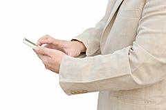 Hombre de negocios usando su teléfono elegante Foto de archivo