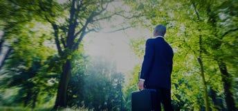 Hombre de negocios verde Inspiration Peaceful Concept del negocio Imágenes de archivo libres de regalías