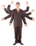 Hombre de negocios versátil Fotografía de archivo libre de regalías