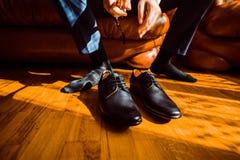 Hombre de negocios vestido para el trabajo Imagen de archivo