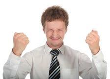 Hombre de negocios victorioso Imagen de archivo libre de regalías