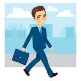 Hombre de negocios Walking Street stock de ilustración