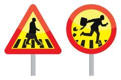 Hombre de negocios Warning Sign Foto de archivo libre de regalías