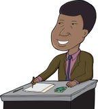 Hombre de negocios Writing Imagenes de archivo