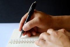 Hombre de negocios Writing Fotos de archivo libres de regalías