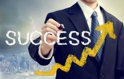 Hombre de negocios Writing Success Fotografía de archivo libre de regalías