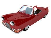 Hombre de negocios y coche rojo stock de ilustración